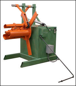 Decoiler with Hold Down Arm